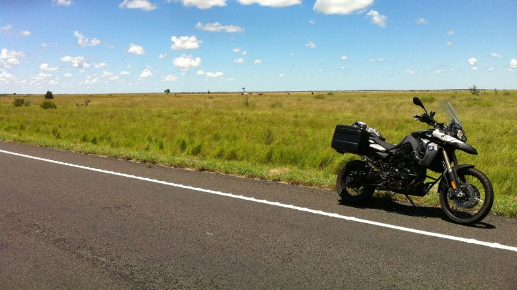 Motorbike on Landsborough Highway